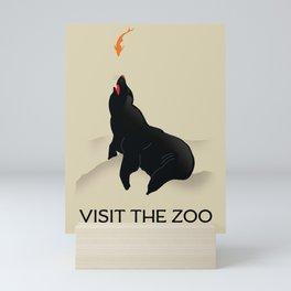 Visit the Zoo Go By Rail Mini Art Print