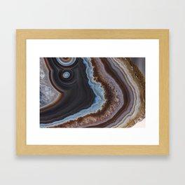 Mocha Agate Framed Art Print