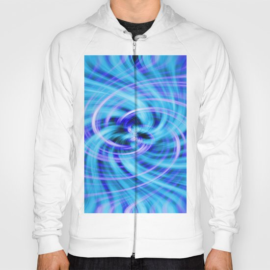 Blue twirl Hoody