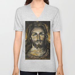 I am the light of the world. (Faustina's Vision) Unisex V-Neck