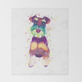 Schnauzer Art Throw Blanket