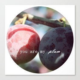 you are my plum Canvas Print