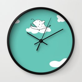 Flying Angler Fish by Amanda Jones Wall Clock