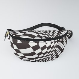 Black and White Optical Illusion Fanny Pack