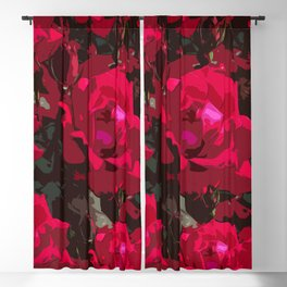 Red roses Blackout Curtain