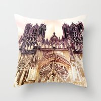takmaj Throw Pillows featuring Reims by takmaj