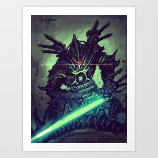 Elite Cyber Swordsman Art Print