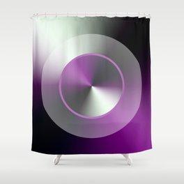 Serene Simple Hub Cap in Purple Shower Curtain