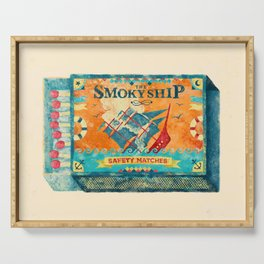 THE SMOKY SHIP Serving Tray