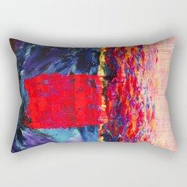 Raspberry Tsunami Rectangular Pillow