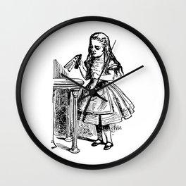 Drink Me Alice in Wonderland Wall Clock