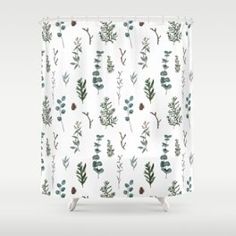 Pine and Eucalyptus Shower Curtain