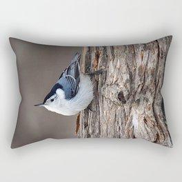 Upside Down Nuthatch Rectangular Pillow