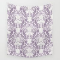 jay fleck Wall Tapestries featuring Jay Pattern by rosanna corfe