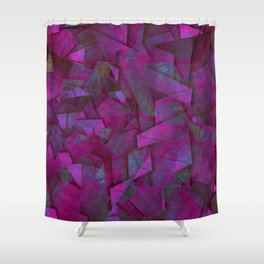 Fragments In Pueple - Abstract, fragmented pattern in purple Shower Curtain