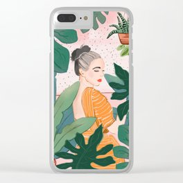 Plant Lady Clear iPhone Case