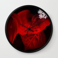 sex and the city Wall Clocks featuring Sex by unaciertamirada