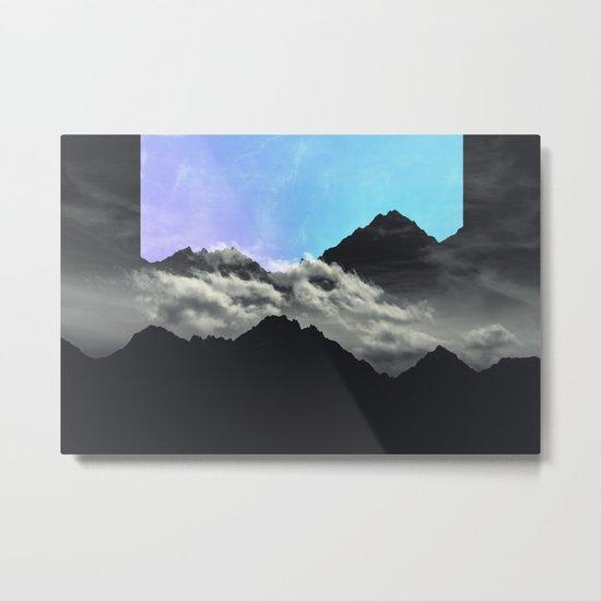 echo mountains Blue Metal Print