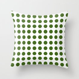 Simply Polka Dots in Jungle Green Throw Pillow