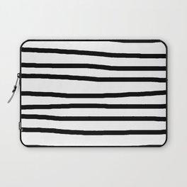Simply Drawn Stripes in Midnight Black Laptop Sleeve