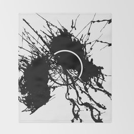 Form Out Of Chaos - Black and white conceptual abstract Throw Blanket