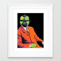 hologram Framed Art Prints featuring hologram by A B O V E B E L O W