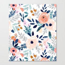 Jolene Floral Canvas Print