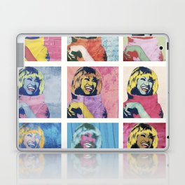 Celia Cruz Pop Art - The Immortal Queen of Salsa - Magical Realism Laptop & iPad Skin