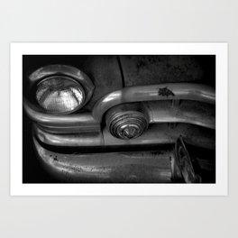 1950 Cadillac, B&W Art Print