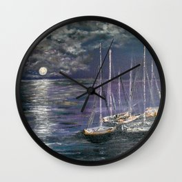 By the Light of the Silvery Moon Wall Clock