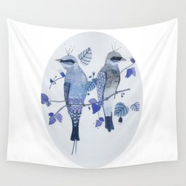 Blue birds Wall Tapestry