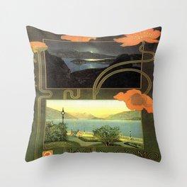 Vintage poster - Lago di Como Throw Pillow