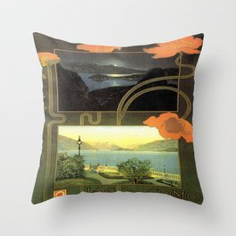 Vintage poster - Lago di Como Throw Pillow