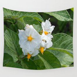 Potato Plant Flowers Wall Tapestry