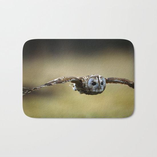 FLIGHT OF THE TAWNY OWL Bath Mat