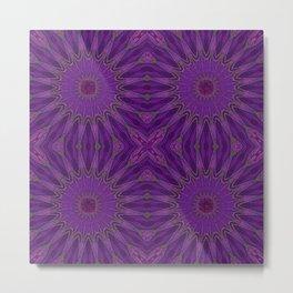 Purple Magenta pinwheel Flowers Metal Print