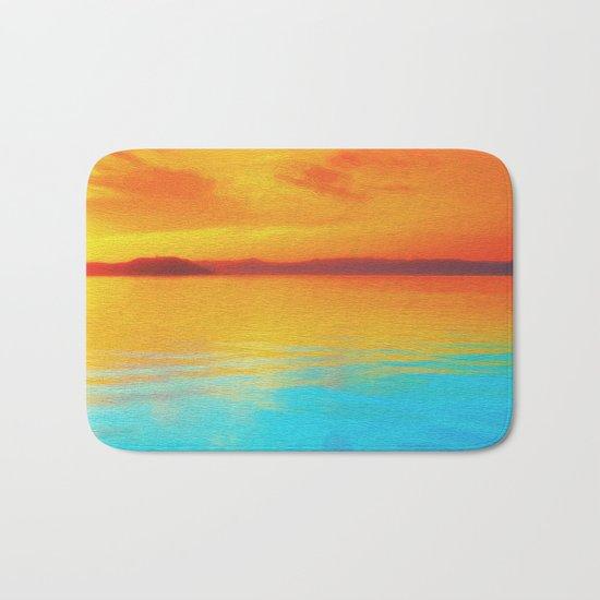 sunset beachh Bath Mat