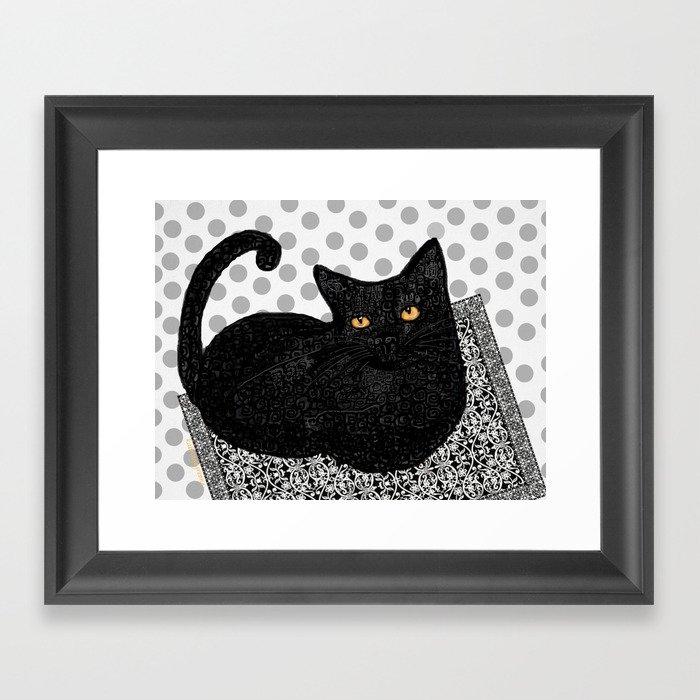 Artie CatDoodle Gerahmter Kunstdruck