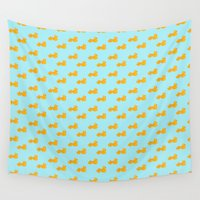 ducks Wall Tapestries featuring Rubber ducks by funkyworm