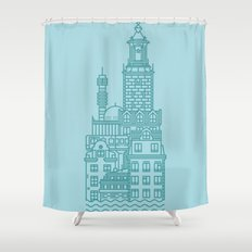 Stockholm (Cities series) Shower Curtain