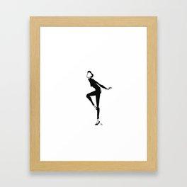 Funny Face | Fashion Illustration Framed Art Print