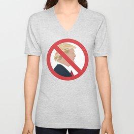 No Trump Sign Unisex V-Neck