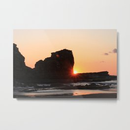 Setting Fireball Metal Print