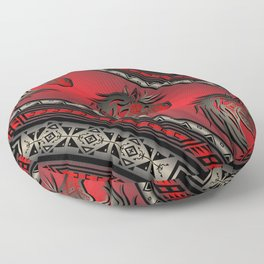 Horse Nation (Red) Floor Pillow