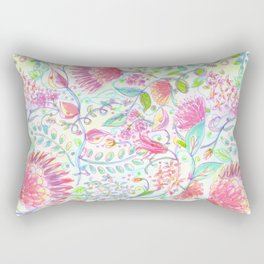 Faded Folksy Floral Rectangular Pillow