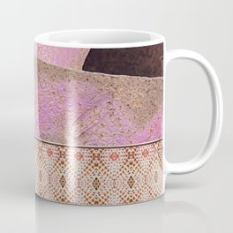 Industrial Pink Painted Cement and Graphic Snake Skin Coffee Mug
