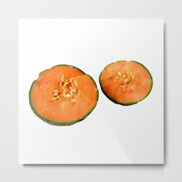 Melon Duo Metal Print