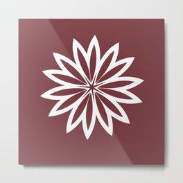 Flower Pillow Metal Print