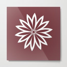 Flower Pillow Metal Print