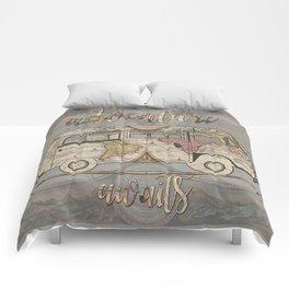 adventure awaits world map design 1 Comforters